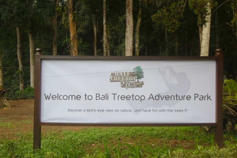 Bali Treetop entrance at the botanical garden