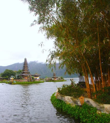 View of the temple and island