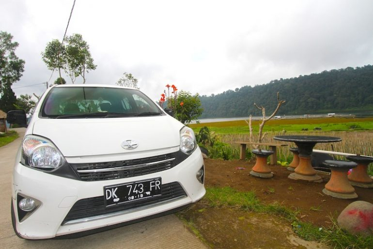 My Toyota at Lake Buyan