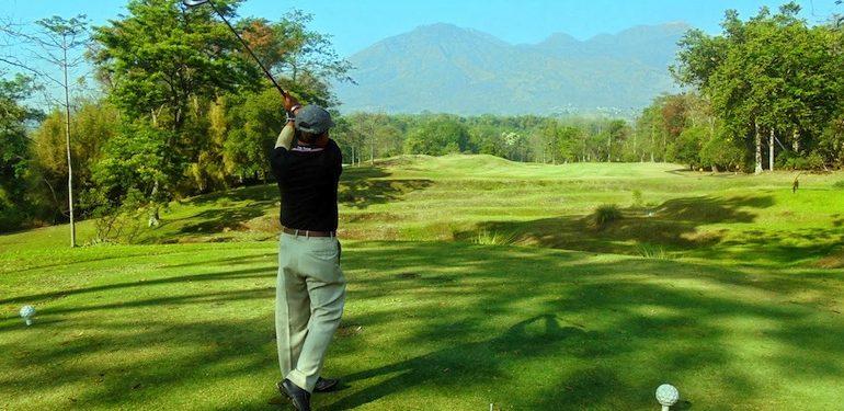 Playing golf at Handara