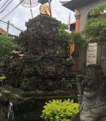 Stone features in Ubud