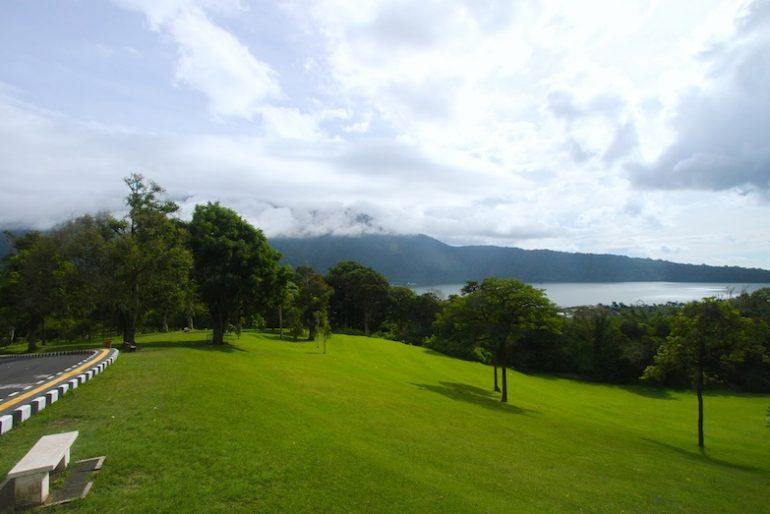 View of Bunyan Lake from botanical gardens
