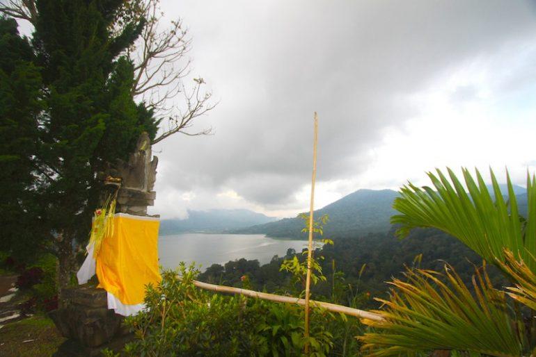 View of Lake Tamblingan from the upper road