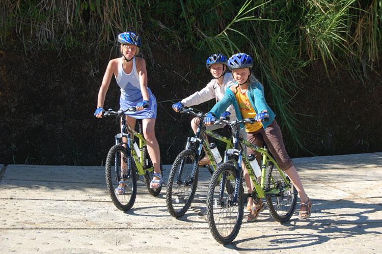 Bike riding available at the resort
