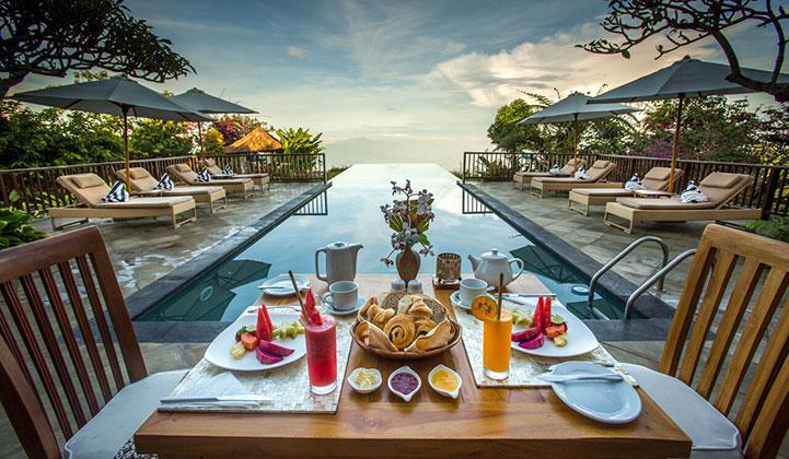 Restaurant morning view
