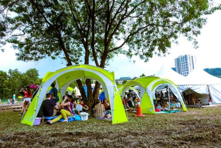 The tents at Desa ParkCity