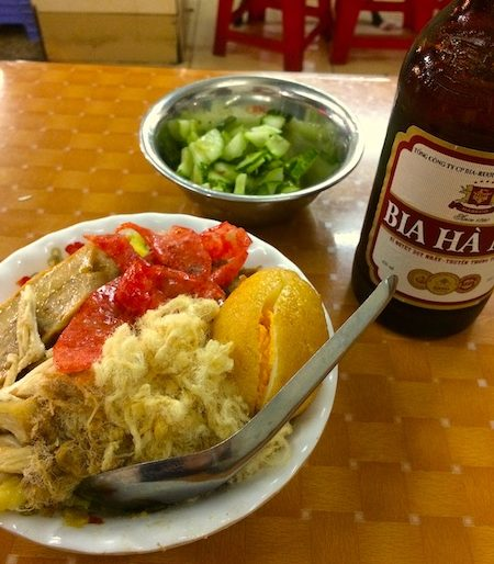 Washed down with Hanoi beer