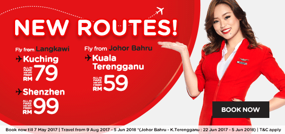 AirAsia new routes