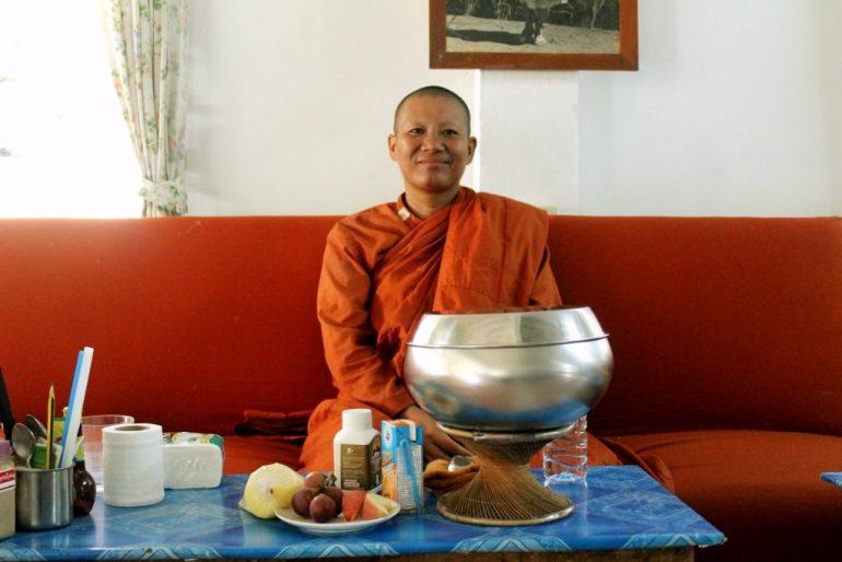 A proud woman monk