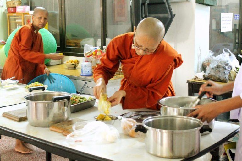 Preparing the communal food