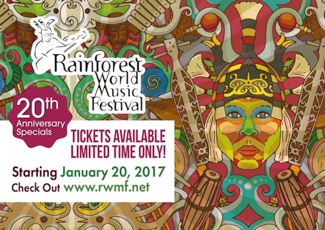 Rainforest World Music Festival 2017 available tickets