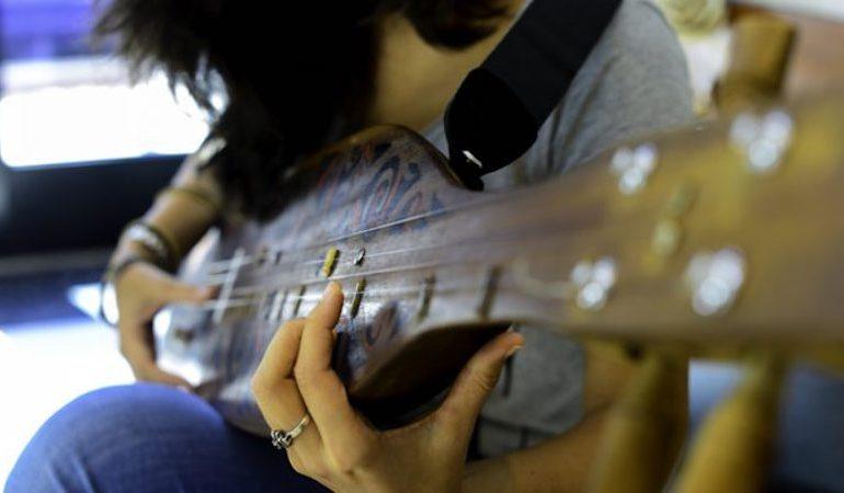 Alena playing