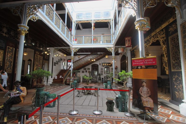 Main hall at Peranakan Mansion
