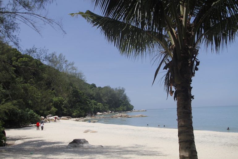 One of the sandy beaches of North Penang