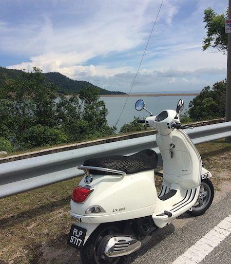 Overlooking Teluk Bahang Dam