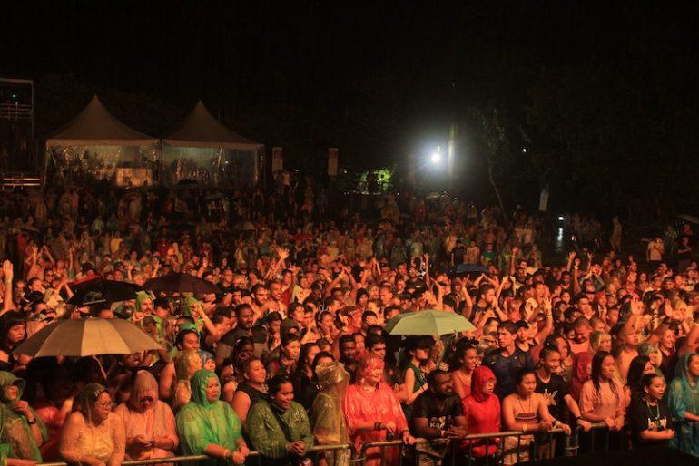 The rain did not deter festival goers