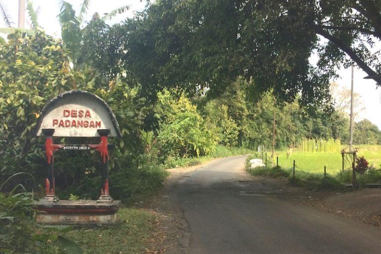 Padangan village entrance