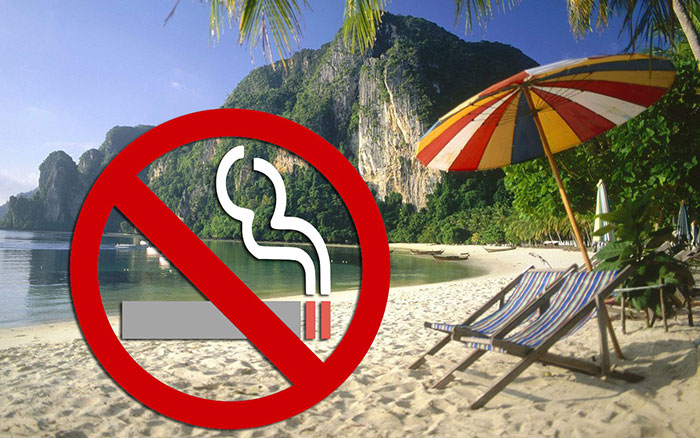 Smoking banned in Thai beaches