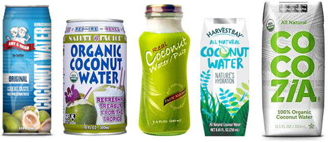 Brands of coconut waters