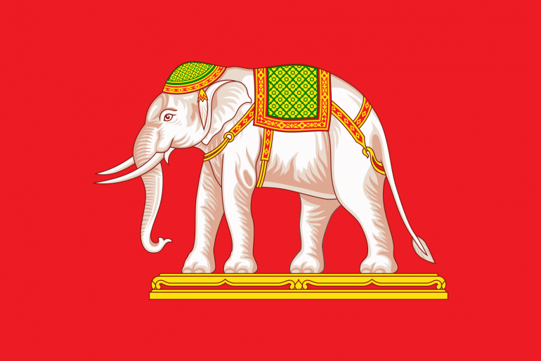 The elephant on the Siam flag
