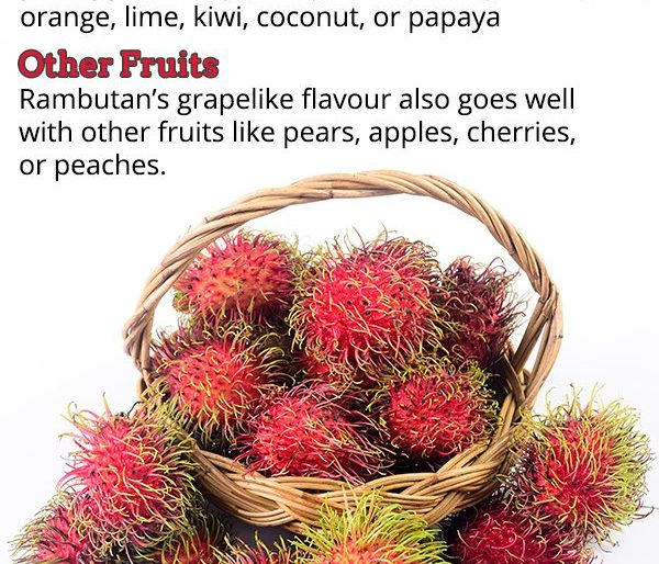 What goes well with rambutan?