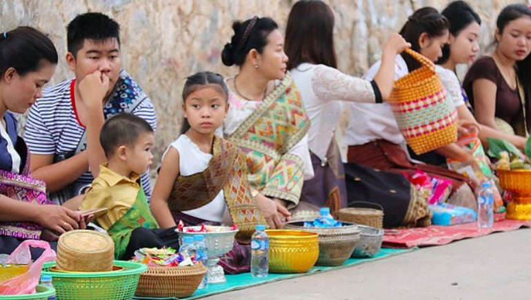 Luang Prabang alms giving ceremony