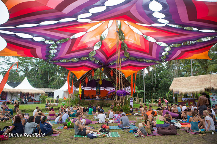 One of BaliSpirit Festival stages