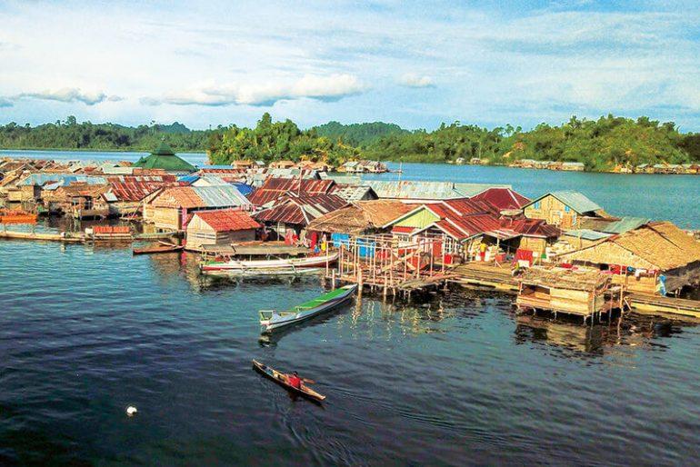 A Togian Islands sea gypsy village