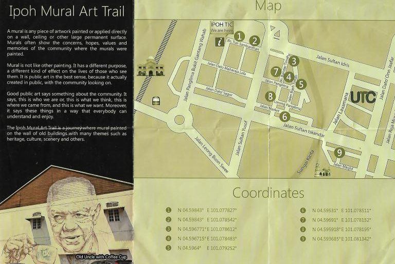 Ipoh mural art trail map