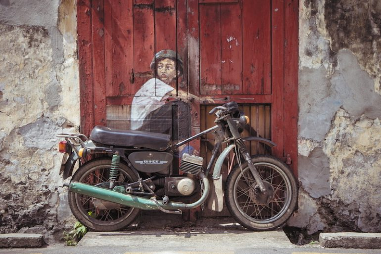 Old rusty motorbike, Penang, Malaysia
