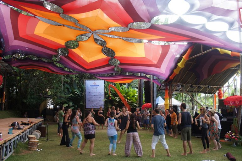 One of the workshops areas at BaliSpirit Festival