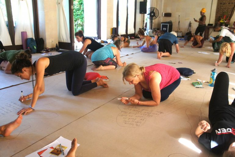 Taking both the writing and the asana practice to the mat