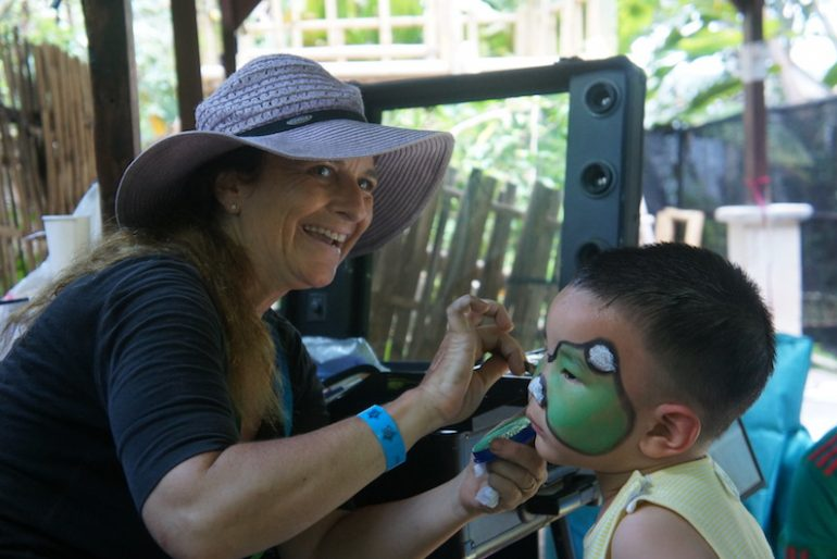 Face painting at the BaliSpirit Festival Kids Zone