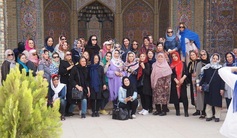 A group of Iranian tourists
