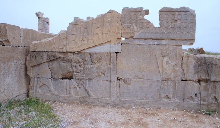 amazing stone carving at Persepolis