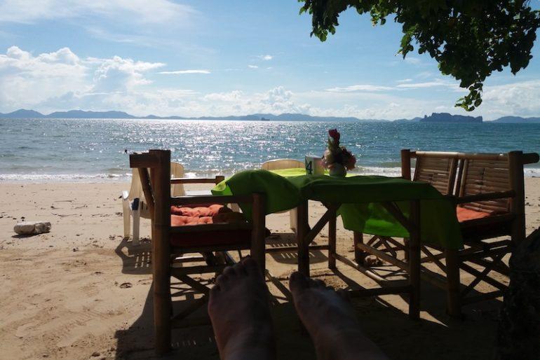 Relaxing at Klong Muang beach