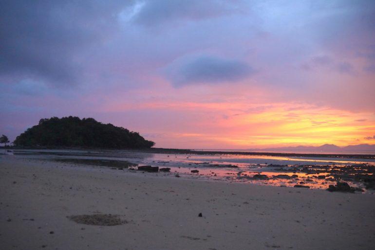 Sunset in Klong Muang beach