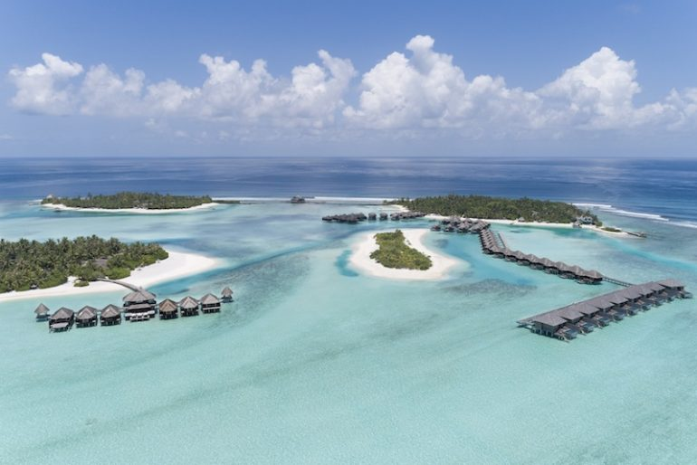 Anantara Veli Aerial with Naladhu and Dhigu Spa