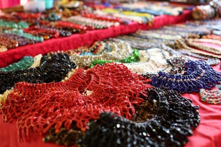 A variety of Beads at Rainforest World Music Festival
