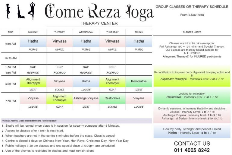 Come Reza Yoga Kuching program