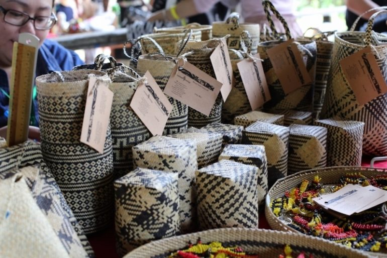 Wiker baskets and more at the Rainforest nght bazaar