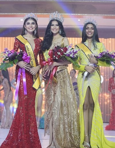 The top 3 winners who will represent Malaysia at various international pageants in 2019.