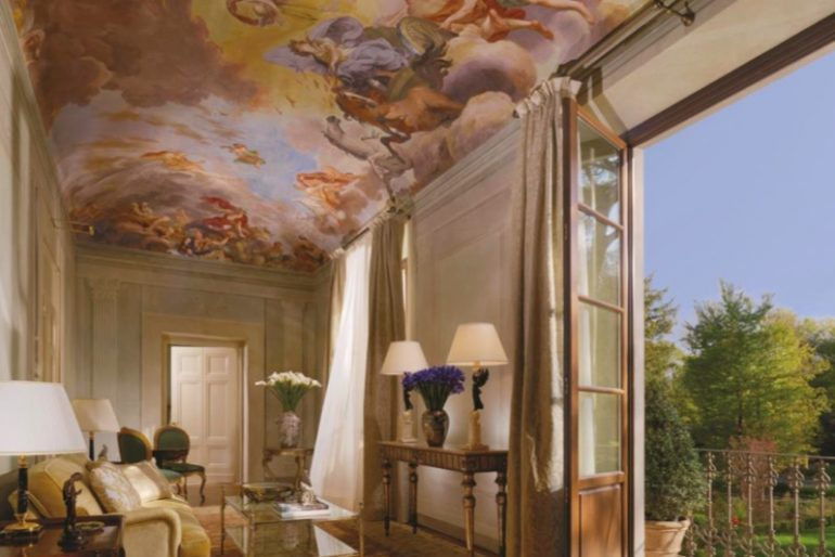 A Presidential Suite at the Four Seasons Florence, where no two rooms are the same thanks to Pierre-Yves Rochon