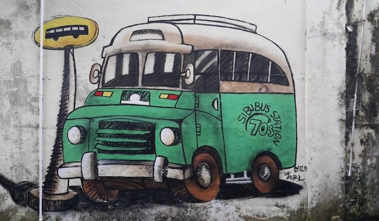 Sibu Street Art - Bus