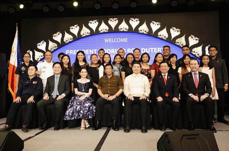 Philippine President Rodrigo Roa Duterte was guest of honour at the official launch of dusitD2 Davao hotel