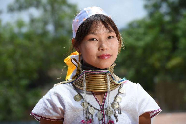 A traditional Kayan girl