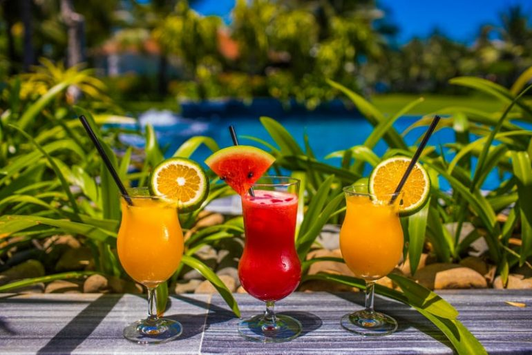 The Beach Club serves up a broad spectrum of beverages including freshly squeezed juices and mocktails