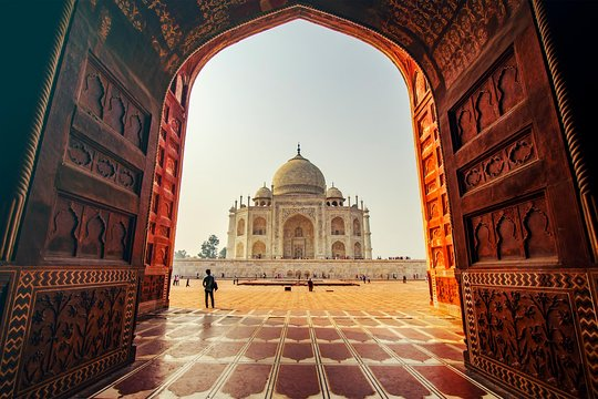 Agra, the iconic Taj Mahal