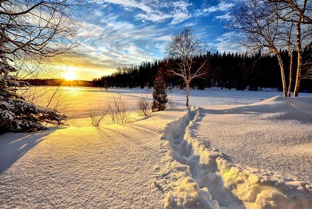 Winter running grants you amazing sceneries