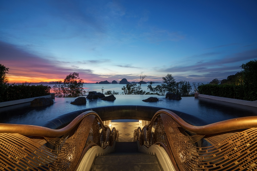 First impressions count - when guests arrive at Banyan Tree Krabi they are greeted by this sensational view from the lobby